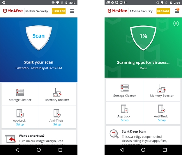McAfee Mobile Security for Android.