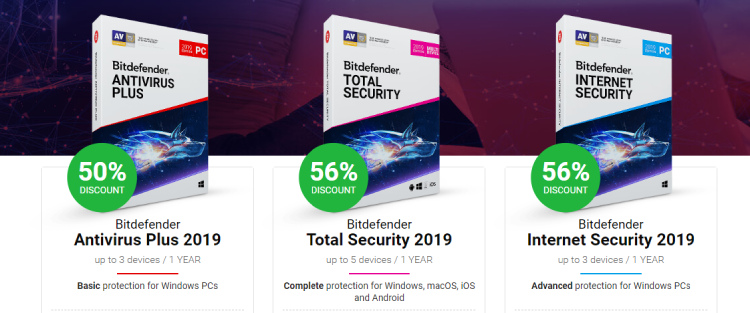 Bitdefender antivirus prices for protection.