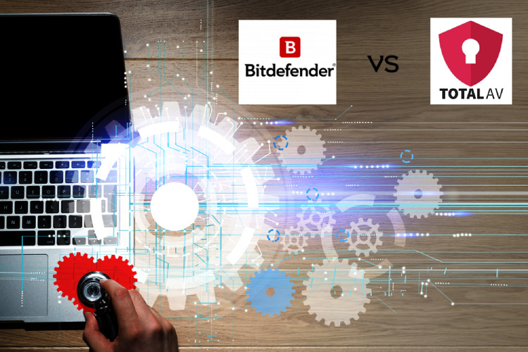 Bitdefender vs Total AV antivirus software.